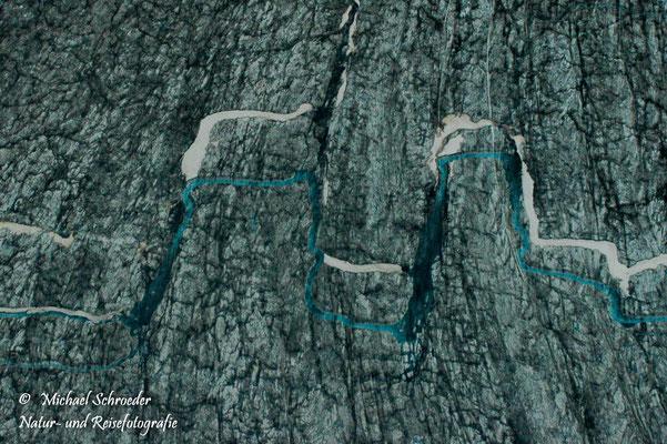 Flüsse auf Gleschern