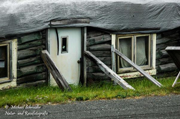 Permfrostböden lassen Häuser versinken