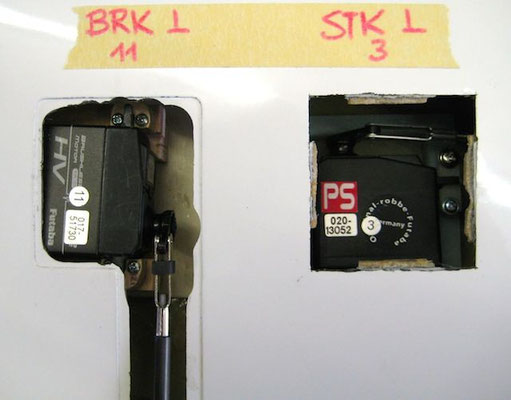 """S-BUS Brems-und Störklappenservo """"Innere Tragfläche"""""""