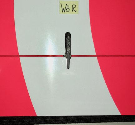 Tragflächen, Detail Wölbklappen-IDS-Anlenkung