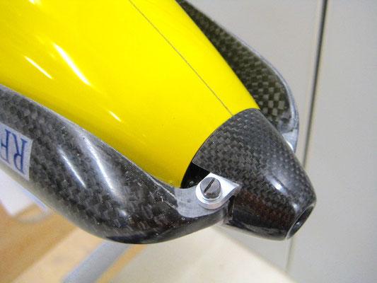 Detail CFK-Spinner und Klapppropeller Montiert