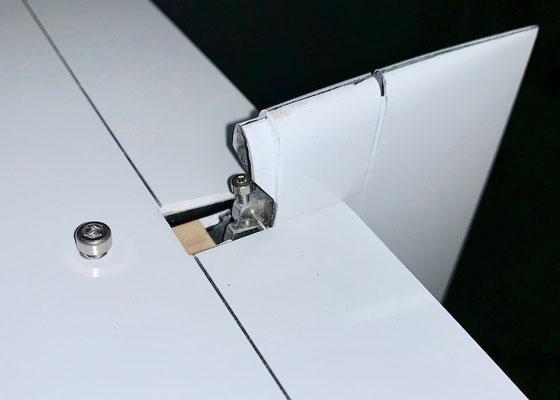 Rumpf, Detail Anlenkung Höhenruder