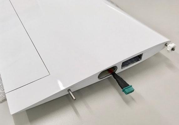 """Tragflächen, MPX-RC-Steckerverbindung und Arretierung  """"Montiert"""""""