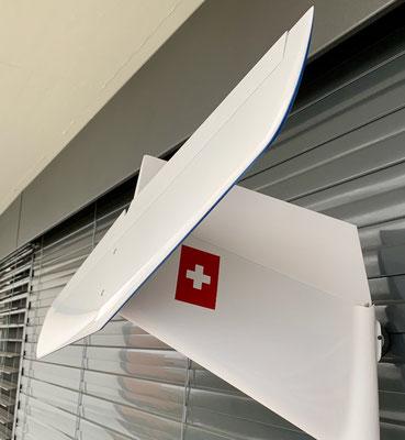 """Fertiges Modell mit 4.28m Spannweite """"Detail Leitwerk"""""""