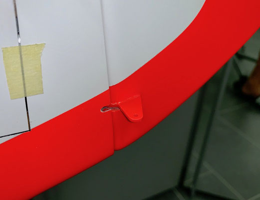 Rumpf, Detail Gfk-Ruderhorn Seitenruder