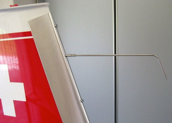 Detail Hitzeschutz am Leitwerk