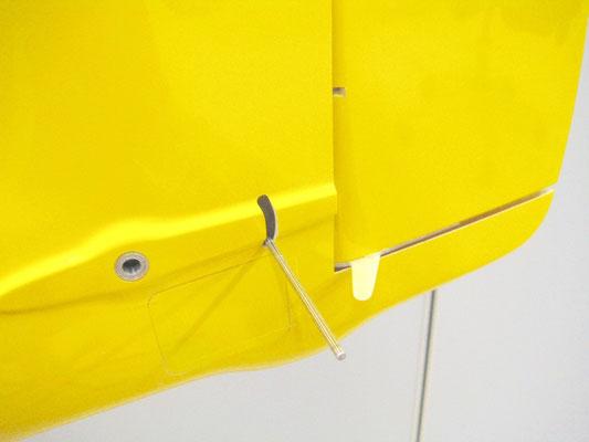 Detail Seitenruder/Spez.Ruderhorn
