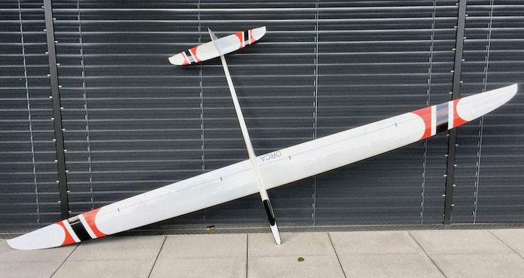 """Fertiges Modell (Kurze Ohren, 3.64m Spannweite) """"Oberseite"""""""