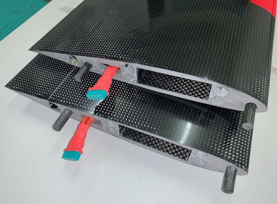 """Tragflächen-Wurzel Innenflügel-Rumpf, Kabelbaum mit MPX-RC-Steckerverbindung (8 Pin) """"Montiert"""""""