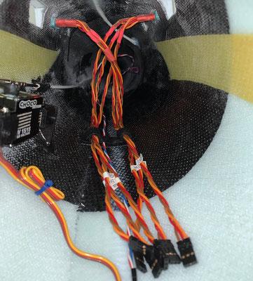"""Rumpf, MPX-RC-Steckerverbindung zu den Tragflächen """"Montiert"""""""