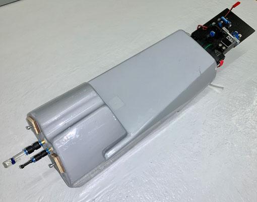 """Wasser-Trimmtank, Kompletter Tank mit Elektronik-und Absperrventilteil  """"Montiert"""""""