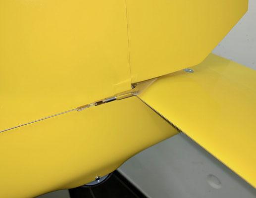 Rumpf, Detail Seitenruder-Anlenkung