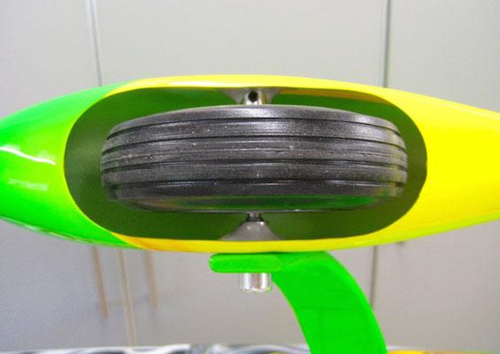 Detail Radschuhmontage