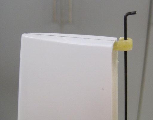 Detail Abschlussleiste SL-/Obere Lagerung