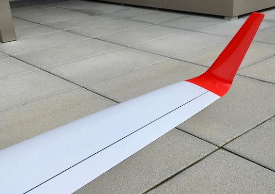 "Fertiges Modell ""Detailansicht Winglet"""