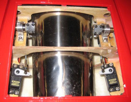 """Höhenruder-Anlenkungen (alles in 3mm Dimension) """"Montiert"""""""