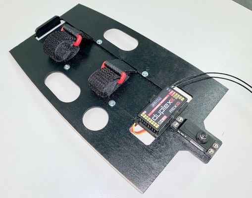 """RC-Einbaubrett-/Akkuhalter (Demontierbar) für bis 6S-Lipo 4'500mAh """"Erstellt"""""""