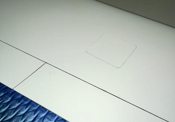 """Tragflächenunterseite, Querruder-Servoschacht-Abdeckung """"Montiert"""""""