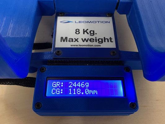 Gesamtgewicht und Schwerpunkt (CG) der 3.95m Version mit 3S/2'200mAh Lipo