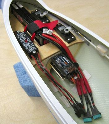 RC-Montagebrett mit 2x RX-Akkus-/DPSI Micro