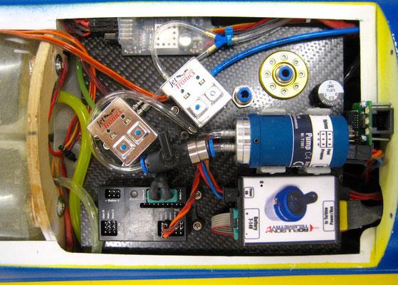 "Turbinen/Fahrwerk/Beleuchtungselektronik ""Montiert"""