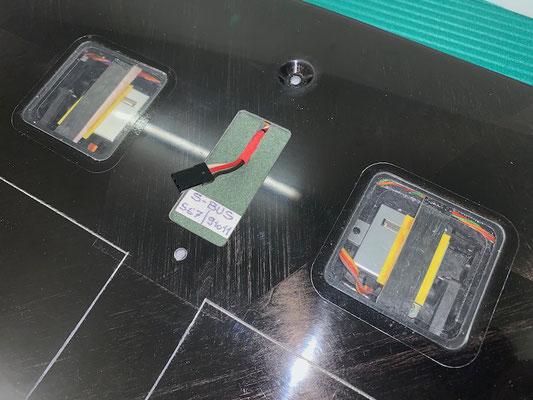"Tragflächen, RC-Steckerverbindung sowie S-Bus-Hub ""Montiert"""
