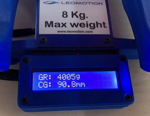 Gesamtgewicht und Schwerpunkt / CG