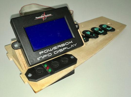 """Rumpf, Halterung für PowerBox Display und Schalter """"Montiert"""""""