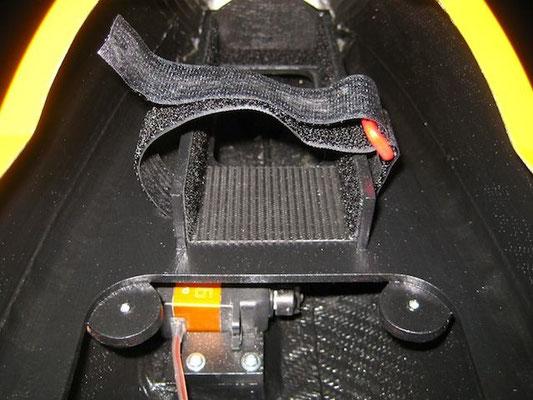 RX-Lipoakkuhalter für 2x 2S-5'400mAh (resp. 2x 2'700mAh) 7,4V