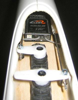 RC-Einbau Rumpfboot (Höhe/Seite/RX)