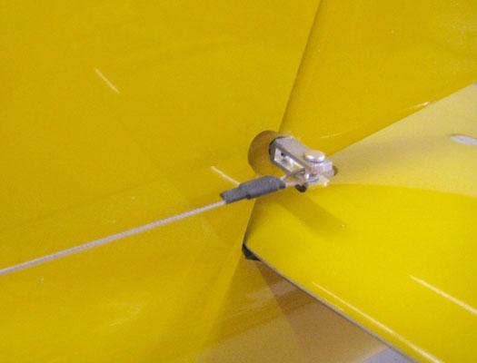 Detail Seilanlenkung Seitenruder