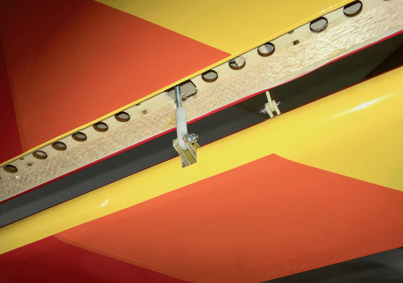 Tragfläche, Detail Anlenkung Landeklappen