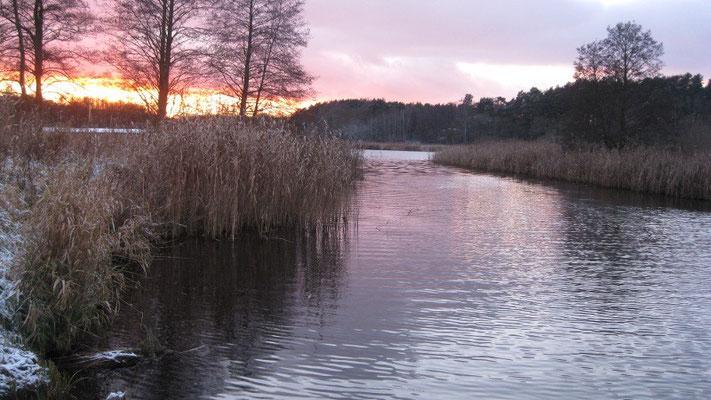 Templiner Kanal im Winter.