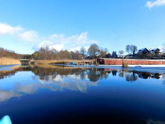 Paddeltour Templiner Kanal im Winter 2021.