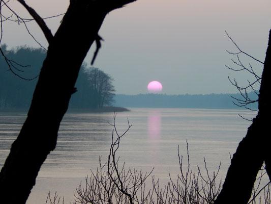 Sonnenuntergang am Röddelinsee.