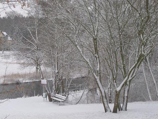 Winterlandschaft am Templiner Kanal.