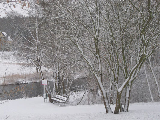 Winterlandschaft am Templiner Kanal.