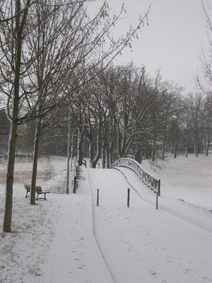 Ziegeleibrücke Winterlandschaft.
