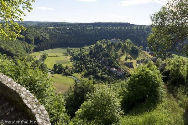 Ausblick von der Burg Hohengundelfingen