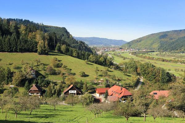 Ausblick vom Panoramaweg von Haslach