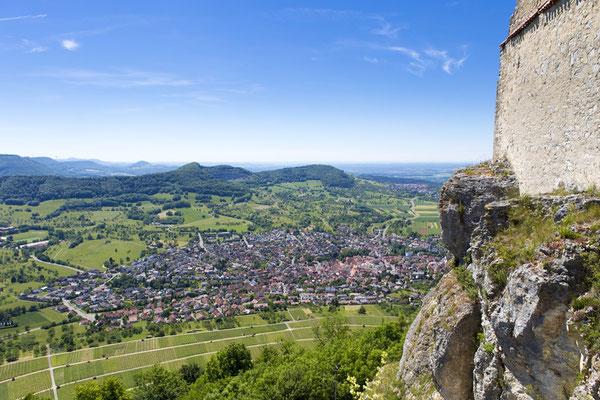 Aussicht von der Burgruine Hohenneuffen