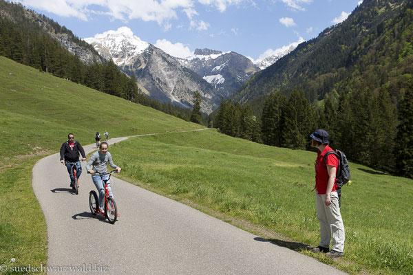 Rollerstrecke zwischen Oytalhaus und Oberstdorf