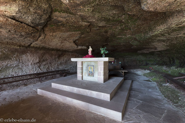 Blick in die Grotte Saint Vit