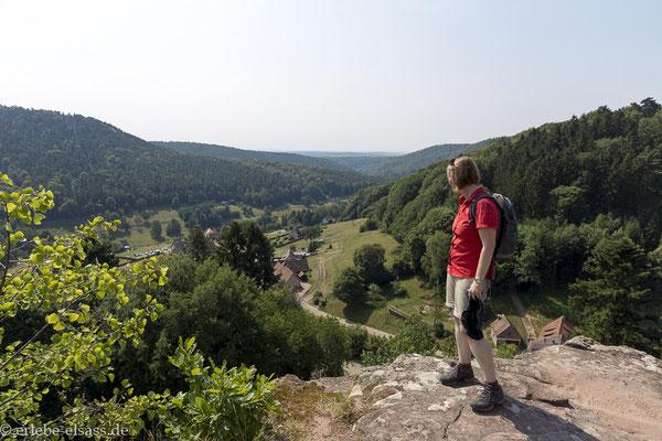 Ausblick von der Burg Alt-Windstein