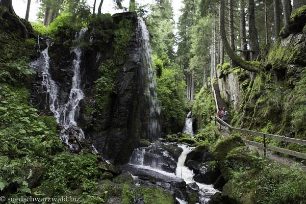 Menzenschwander Wasserfälle auf dem Alb-Steig