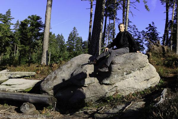 Priorstein der Holzmachertour bei Baiersbronn