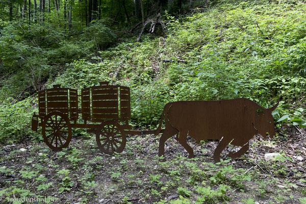 Denkmal an die Wasserhändler der Schwäbischen Alb