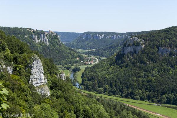 Ausblick vom Eichfelsen über das Obere Donautal