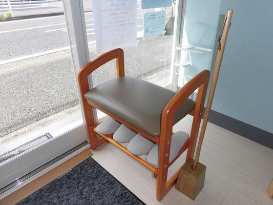 腰かけ椅子の写真