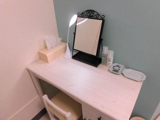 ミソラ治療室のドレッサーの写真